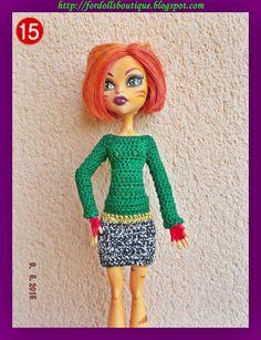 Ropa para muñecos - Vestido para muñecas Monster High - hecho a mano por mamimonster en DaWanda
