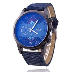 CCQ Ocean Blue Fashion Leather Strap Men Watches Casual Big Dial Quartz Watch Sport Smart Luxury Wrist Watch Gift -- Be sure to check out this awesome product. Note: It's an affiliate link to Amazon #watchesforme