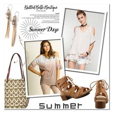 """""""Summer days!"""" by knittedbelleboutique ❤ liked on Polyvore featuring EASEL, rockflowerpaper and Umgee"""