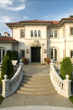 The Copper Gutters And Downspouts Were Custom Made By All Star Roofing In Dream Mansiondream Homesmediterranean Designmediterranean