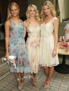 "Victoria's Secret Angels in Philosophy di Alberta Ferretti at the ""Love Is Heavenly"" fragrance launch"