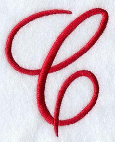 Monogram Script Letter C - 4 Inch