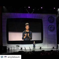 One of the most fun stage set I have had to work with. #setdesign #stageset #design #jamesbeards #tvdinner #food #foodawards #thegianttvisup #scenic #artdepartment #lyricoperaofchicago #designer #setdesignerslife #mydayinla  #Repost @amyfalbaum with @repostapp. ・・・ @carlaphall Your hair is fabulous! #jbfa
