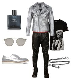 """Men outfit"" by mrwhospain on Polyvore featuring Dsquared2, Worn By, ADYN, KG Kurt Geiger, Dior Homme, Chanel, men's fashion y menswear"