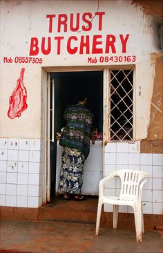 meat shop in kigali Meat Art, Meat Shop, Beautiful Lettering, Wayfinding Signage, Environmental Graphics, Hand Painted Signs, Design Lab, Restaurant Design, Branding