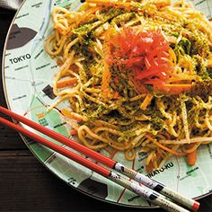 Yakisoba with Mixed Vegetables by Fiona Uyema. | A vegetarian take on Yakisoba, a popular Japanese street-food. Try with pork belly or pork shoulder for a more traditional approach.