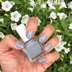 Gorgeously glossy dove gray nails by #tenoverten on the #Sephora Beauty Board