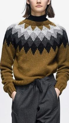 Vintage Sweaters Mens, Jumpers For Women, Sweaters For Women, Icelandic Sweaters, Knit Baby Sweaters, How To Purl Knit, Fair Isle Knitting, Sweater Knitting Patterns, Knitting Accessories