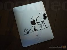 Snoopy Bonfire Party ipad decal sticker
