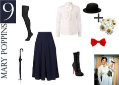 easy DIY costumes - Mary Poppins