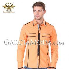 Camisa Vaquera  El General Western Wear 32816GM Naranja                                                                                                                                                      Más