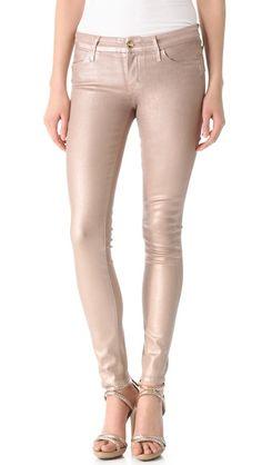 KORAL Metallic Coated Skinny Jeans
