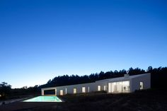 ....a house situated in the rich topography of portugal's odemira region is oriented and formally developed according to the landscape.