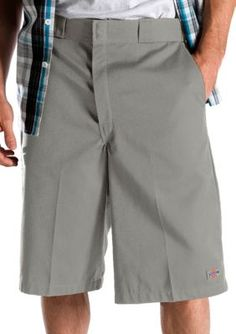 Dickies Silver Loose Fit Multi-Pocket Work Short