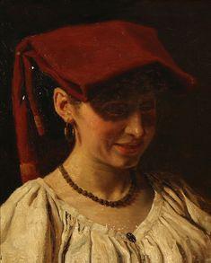 Italian Women, Folk Costume, Traditional Dresses, Danish, Italy, Smile, Artists, Woman, Red