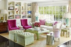 Home tour- Designer Krista Ewart's stylish and colorful Los Angeles home featured in House Beautiful.