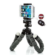 iPhone Tripod with Bonus Bluetooth Shutter Remote - Pro Series Edition featuring JAWS Mount Technology. Universal for Phones, Cameras, Webcams, etc. CamRah Professional Series Edition http://www.amazon.com/dp/B00VPU8QKA/ref=cm_sw_r_pi_dp_ATi4wb15MD9E6