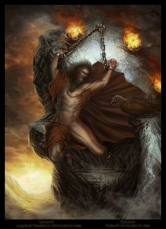 Τιτάνας Προμηθεύς Δεσμώτης Titan Prometheus Greek mythology