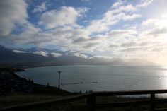 Amazing views, looking down over Kaikoura, New Zealand.