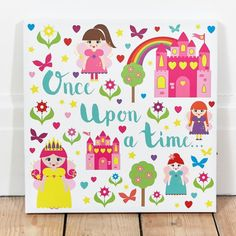 Once Upon a Time Light Up Canvas
