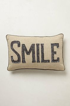 Shimmered Sentiments Pillow #anthropologie...the GOLD WISH one