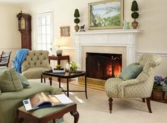 Darien Home - Traditional - Living Room - new york - by Last Detail Interior Design