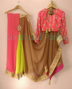 vibrant huesPrestitched saree and blouse for coming ceremonies Price 4850/- with blouseWhatsapp for further details at +919669166763 18 November 2016