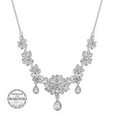 0878c3701 Jon Richard Jon Richard Sophia botanical necklace MADE WITH SWAROVSKI  CRYSTALS