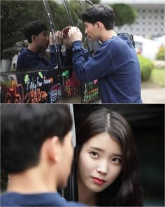 Kim Soo Hyun and IU make eye contact in bts still cuts from 'Producer' | allkpop