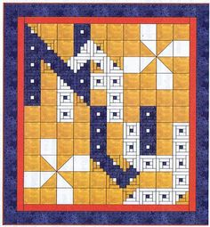 Inspirational United States Navy Quilt Pattern, Alphabet Soup by AD Designs