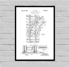 Train Track Patent, Railway Related Patent, Railway Invention Patent, Train Poster, Train Print, railway Patent, train Inventions, SP133 by STANLEYprintHOUSE  3.00 USD  We use only top quality archival inks and heavyweight matte fine art papers and high end printers to produce a stunning quality print that's made to last.  Any of these posters will make a great affordable gift, or tie any room together.  Please choose between different sizes and col ..  https://www.etsy.com/ca/list..