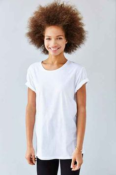 BDG Pigment-Dyed Unisex Wide Neck Tee - Urban Outfitters