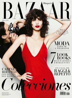 Mica Arganaraz Covers Harper's Bazaar Argentina March 2015