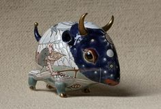 Painted porcelain and ceramic sculpture by Anya Stasenko and Slava Leontiev - ego-alterego.com