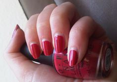 OPI From Me To Q: a mixture of #pink and #red - i like it.   #nails #nail  http://penguinlacquer.blogspot.de/2014/05/from-me-to-opi.html