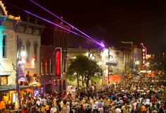 Sixth Street is jammed with people during SXSW Music & Film Festival in Austin, Texas