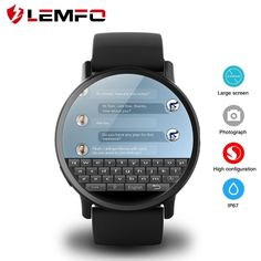 b7204d40f LEMFO LEM X 4G Smart Watch Android 7.1 With 8MP Camera GPS 2.03 inch Screen