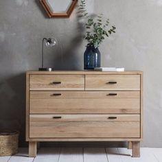 Hudson Living Kielder Oak Chest of Drawers - Reclaimed wood chest. Modish Living.