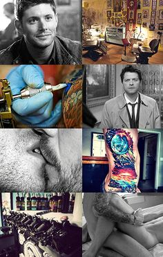 Dean x Castiel Tattoo!AU where Dean's the owner of Guns For Hire and Castiel's the customer who throws him for a loop...in more ways than one. #Destiel #Dean #Castiel #Supernatural #tattoo!au