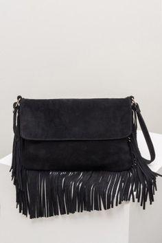sac noir à franges Black Suede 93eaf73eed2f7