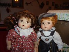 seymour mann porcelain dolls   Seymour Mann Porcelain Dolls boy n girl
