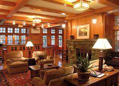 California craftsman interior living room