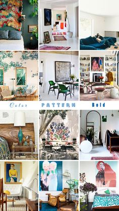 """Introducing our house and our newest client – ME. (NOTE: """"Inspiration: Color, Pattern, Bold."""")"""
