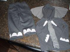 Elephant Costume- no sewing