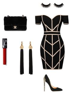 A fashion look from April 2017 featuring Command dresses, Cerasella Milano pumps ve Chanel shoulder bags. Browse and shop related looks. Cute Casual Outfits, Sexy Outfits, Stylish Outfits, Kpop Fashion Outfits, Womens Fashion, Mode Kpop, Rocker, Rock Chic, Night Outfits