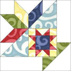 Block 11 by Piecemeal Quilts - like block 12, I like you can replace the small block. NOTE:  this is now in my PDF library in iBooks