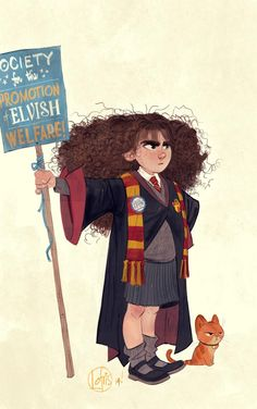 S.P.E.W. This is adorable. Look at Crookshanks haha :)