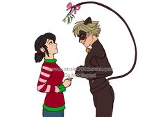 """"""" It worked better than he expected it An early Christmas gift from me to all of you Meraculous Ladybug, Ladybugs, Miraculous Ladybug Kiss, Marinette And Adrien, 3c, Romance, Fandoms, Outfits, Cartoon Wallpaper"""