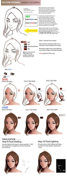 Vector Tutorial:Anime Coloring by taho