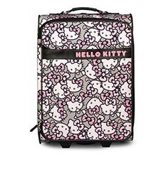 Hello Kitty Pink/Grey All Over Print Roller/Carry-on